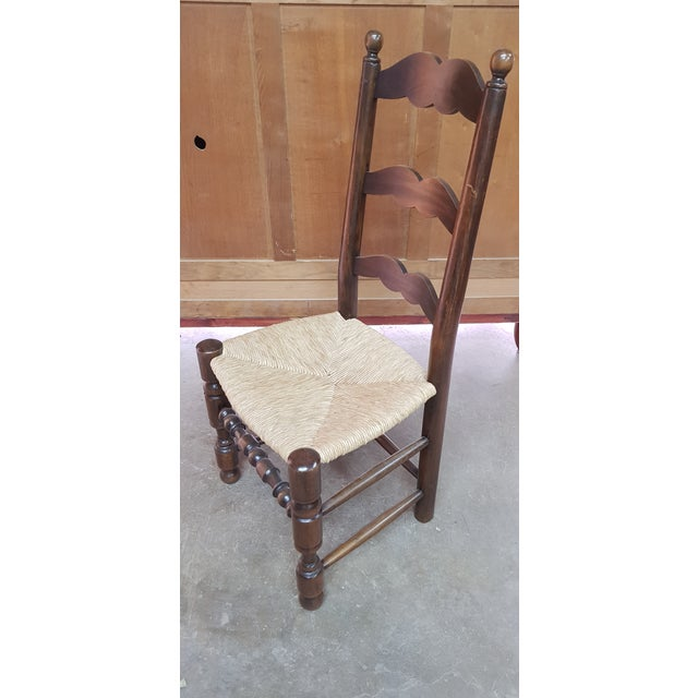 Fruitwood 1900s Vintage Provencal Dining Chairs- Set of 4 For Sale - Image 7 of 10