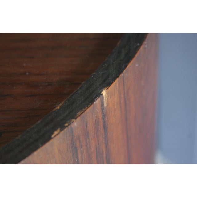 Rosewood Handmade Bar Cabinet on Casters Attr. To Henry Glass For Sale - Image 10 of 13