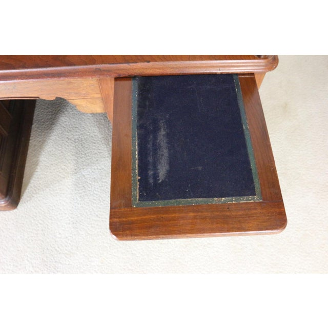1850s Antique Walnut Bankers Desk - Image 7 of 11