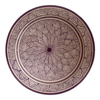 Moroccan Hand Painted Bowl in the Fez Style For Sale
