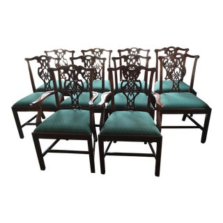 Set of 10 Baker Furniture Dining Room Chairs