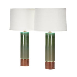 Hancock Lamp in Patina Glaze - a Pair For Sale