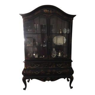 Maitland-Smith Chinoiserie Display Cabinet For Sale