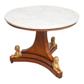Charles X Center Table, Circa 1830, Provenance Sothebys, Sept. 26, 1992, Lot 365