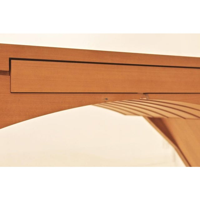 """Brown """"Arch Bridge"""", Late 20th Century Constructivist Desk in Pear wood, Ed Weinberger For Sale - Image 8 of 10"""