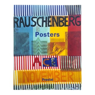 """ Rauschenberg Posters "" Rare First Edition Collector's Lithograph Print Modern Art Book For Sale"