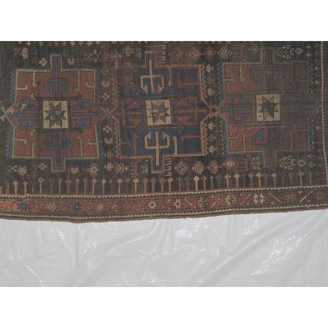 "Leon Banilivi Kazak Brown Wool Rug - 5'6"" X 3'2"" - Image 5 of 7"