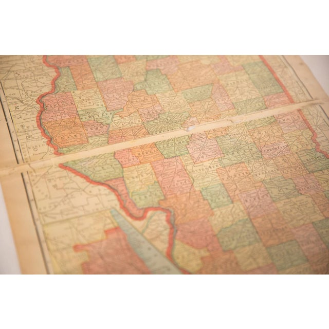 Old New House Cram's 1907 Map of Illinois For Sale - Image 4 of 6