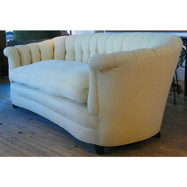 Wood Vintage 1940s Button Tufted Sofa For Sale - Image 7 of 7