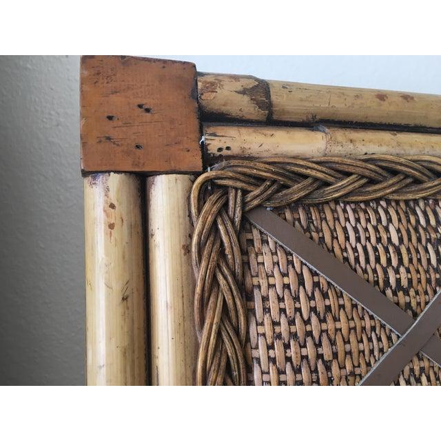 Boho Chic Rattan Bamboo Photo Board - Image 4 of 4
