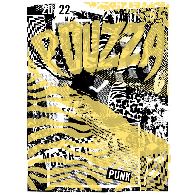 Contemporary 2016 Contemporary Music Poster - Pouzza Punk Festival (Yellow) For Sale - Image 3 of 3