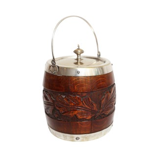 English Oak Biscuit Barrel