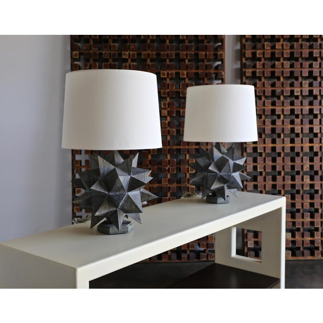 Sculptural Metal Table Lamps, Circa 1965 - a Pair For Sale - Image 12 of 12