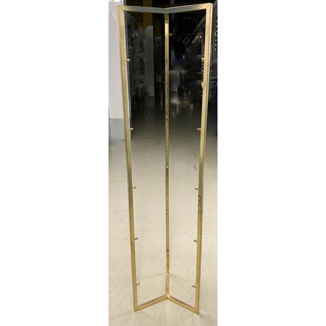 Mid Century Brass 5 Shelf Etager- Vertical Shelving For Sale In New York - Image 6 of 6