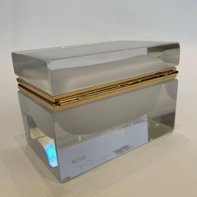 Alessandro Mandruzzato 21st Century Murano White Crystal Jewel Box by Mandruzzato For Sale - Image 4 of 10