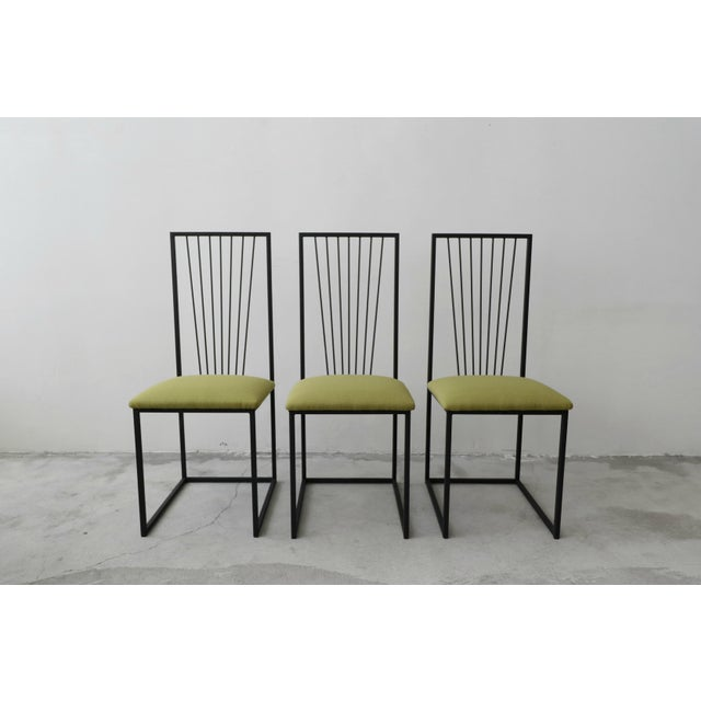 1980s Set of 6 Postmodern Memphis Milano Minimalist Style Dining Chairs For Sale - Image 5 of 10