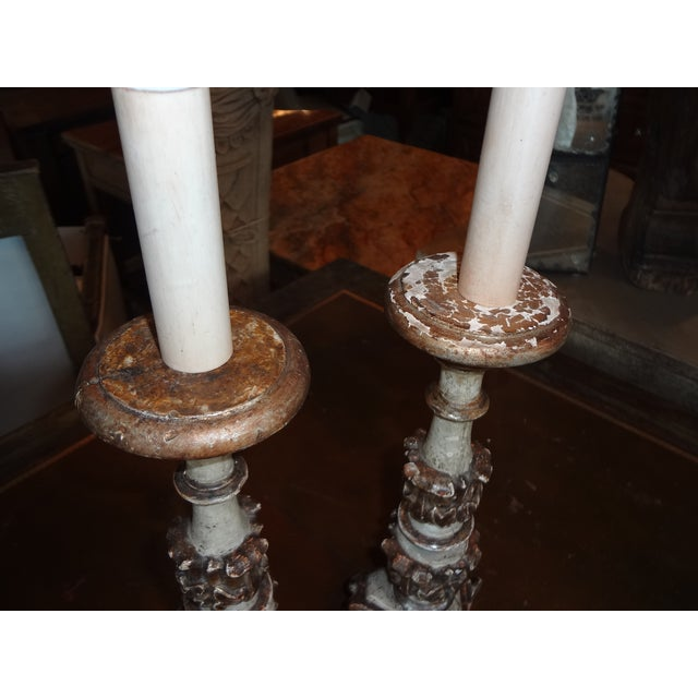 19th Century Italian Candle Holder, Pair For Sale - Image 4 of 10