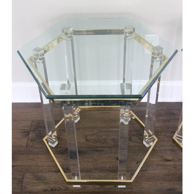 Charles Hollis Jones Style Lucite Tables - A Pair - Image 7 of 10