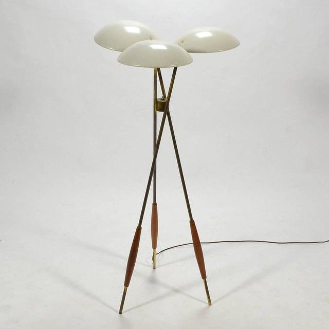 Gold Gerald Thurston Tripod Floor Lamp by Lightolier For Sale - Image 8 of 10