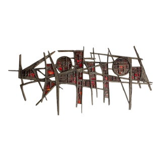 Pia Manu Giant Wall Light Sculpture - 1970s For Sale