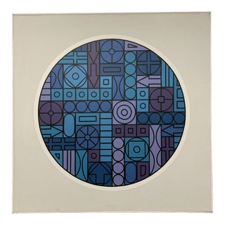 1970 Geometric Polymer on Canvas Painting by Jim Summers For Sale