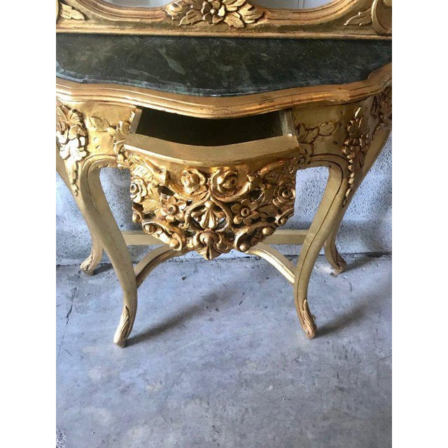 French French Louis XVI Console With Mirror For Sale - Image 3 of 10