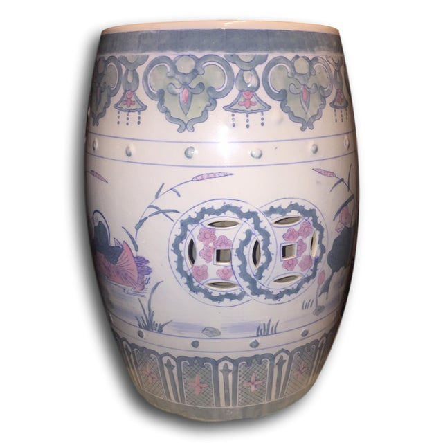 Vintage Chinoiserie Chinese Garden Seat - Image 2 of 5