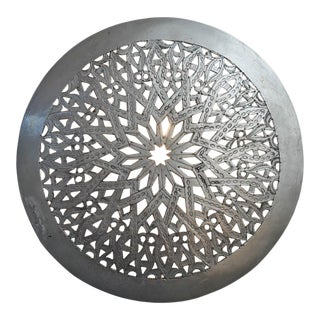 Moroccan Nickel Wall Sconce Cover For Sale