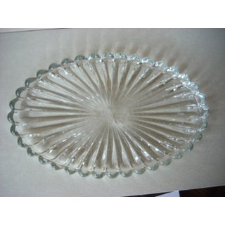 1960s Traditional Heisley Glass Ribbed Platters Preview