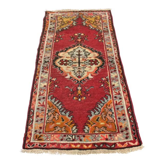 "Vintage Turkish Anatolian Rug - 2'8""x5'4"" - Image 1 of 11"