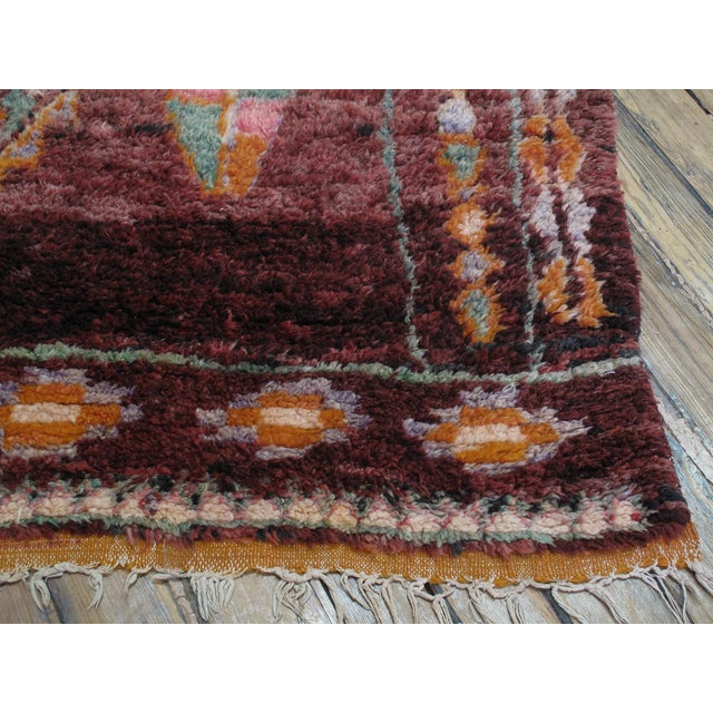 Moroccan Boujad Rug - 5′9″ × 11′8″ For Sale - Image 11 of 12