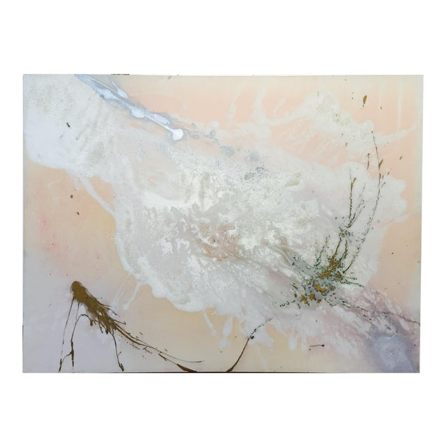 """Jacqueline Angove """"Peach Rose"""" Mixed Media Painting - Image 5 of 13"""