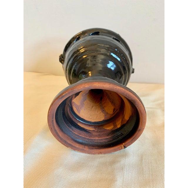 Mid 20th Century Mid Century Hand-Thrown Terra Cotta Vase For Sale - Image 5 of 9