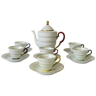 Scandinavian Modern Porcelain Espresso Coffee or Tea Demitasse Set For Sale