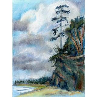 "Kathleen Ney ""Bluff"" Pastel Sketch For Sale"