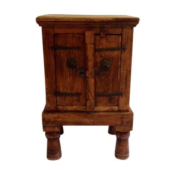 Antique Indian Teak Wood Storage Table - Image 1 of 4