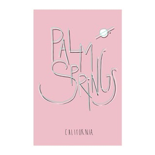 "Original ""Palm Springs"" Typography Framed Print For Sale"
