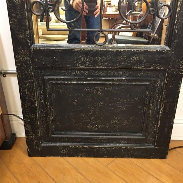 Uttermost Teulada Distressed Black Floor Mirror For Sale - Image 4 of 6