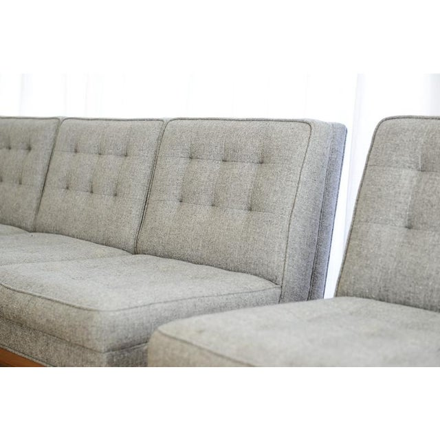 Custom Gray Modern Sofa - Image 5 of 7