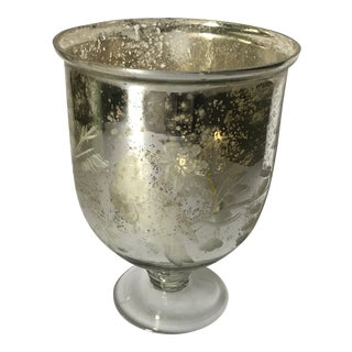 Mercury Glass Hurricane Vessel Vase