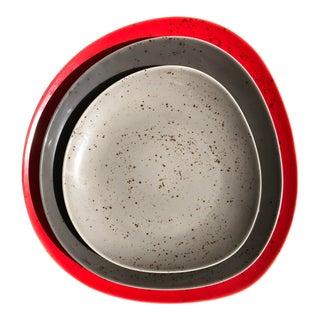 Mid-Century Modern Schonwald Nesting Platters - Set of 3 For Sale