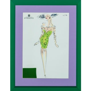 """Givenchy Glam No 86 """"Day at the Races"""" Fashion Illustration For Sale"""