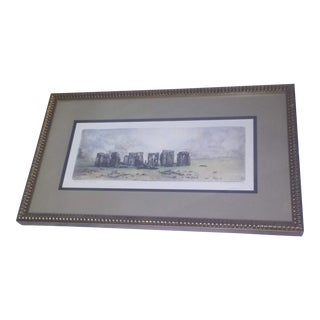 1960s Stonehenge Signed Etching For Sale