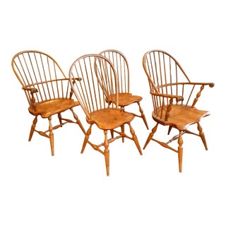 American Windsor Dining Chairs - Set of 4