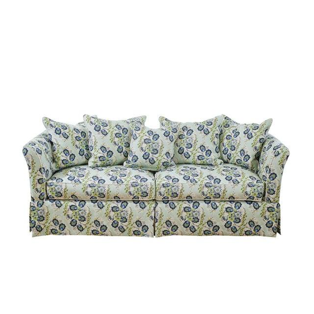 Custom Sofa in Ferrick Mason's Heather - Soft Jade For Sale In Lexington, KY - Image 6 of 6