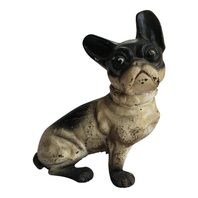 French Bulldog Iron Door Stop For Sale