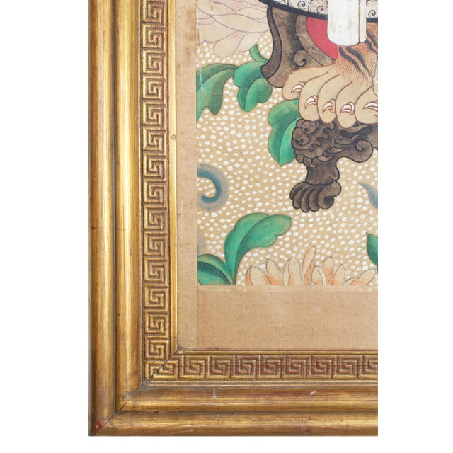 Chinese Late 19th Century Antique Chinese Ancestral Portrait Painting For Sale - Image 3 of 5