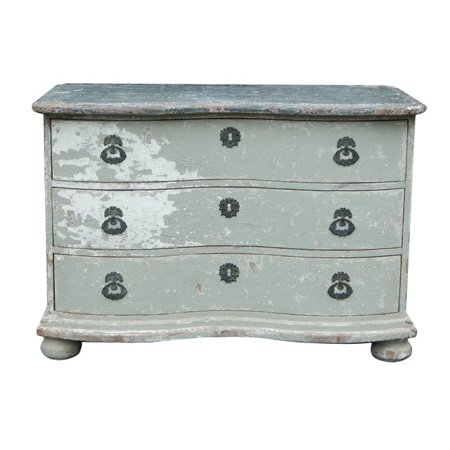 Late 19th Century French Bow Front Dresser For Sale - Image 5 of 11