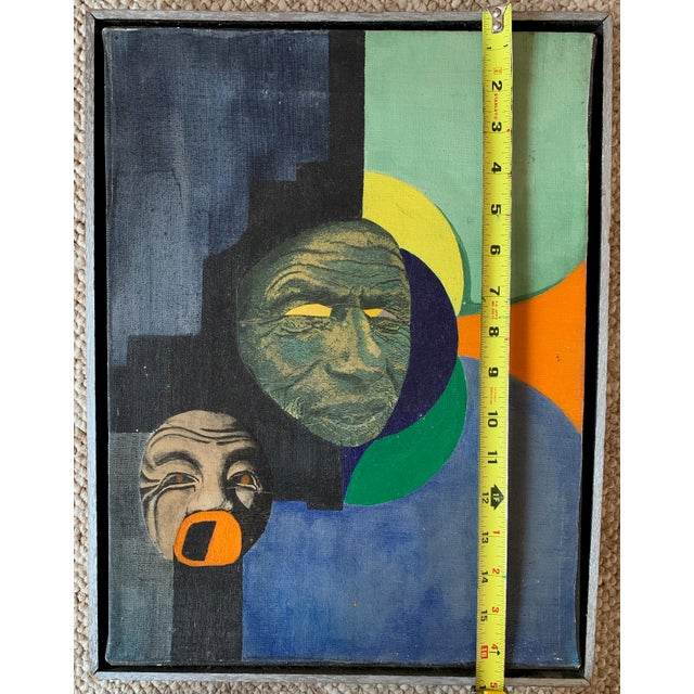 Vintage Mixed Media Abstract Collage Painting Wall Hanging Mid Century Modern For Sale In Saint Louis - Image 6 of 9