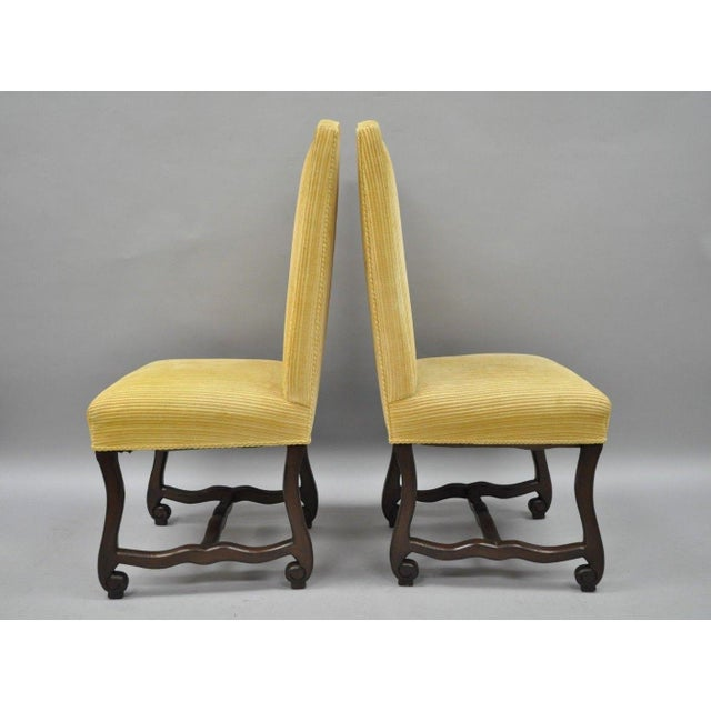 Early 20th Century Walnut Os De Mouton Louis XIV French Style Upholstered Dining Chairs- Set of 10 For Sale - Image 4 of 12